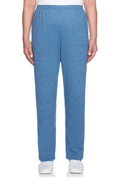 Image: Petite French Terry Knit Proportioned Medium Pant