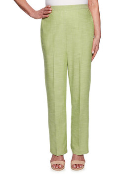 Image: Petite Heathered Texture Classic Fit Proportioned Medium Pant