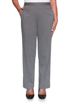 Image: Petite Houndstooth Knit Proportioned Medium Pant