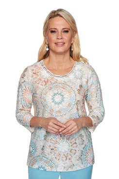 Image: Petite Medallion Textured Top