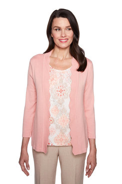 Image: Petite Medallion Two For One Sweater