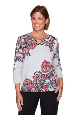 Image: Petite Paisley Scroll Print Sweater