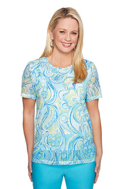 Image: Petite Paisley Scroll Top