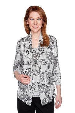 Image: Petite Paisley Two for One Top