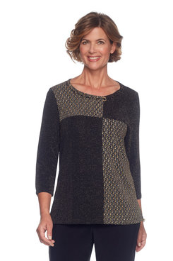 Petite Patch Shimmer Tunic