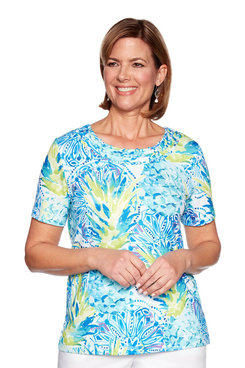 Image: Petite Pineapple Printed Top
