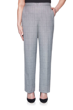 Image: Petite Plaid Proportioned Medium Pant