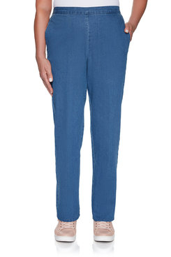 Image: Petite Proportioned Medium Denim Jean