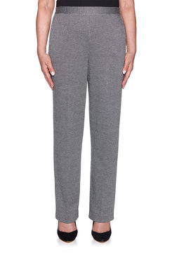 Image: Petite Proportioned Medium Textured Knit Pant