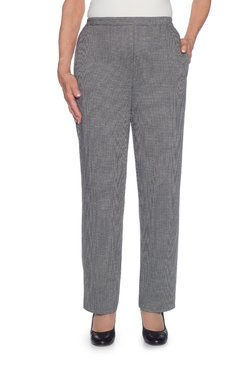 Petite Proportioned Short Houndstooth Knit Pant