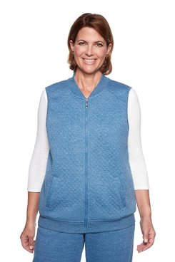 Image: Petite Quilted Knit Vest