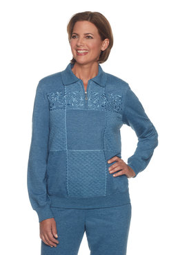 Image: Petite Quilted Yoke T-Shirt
