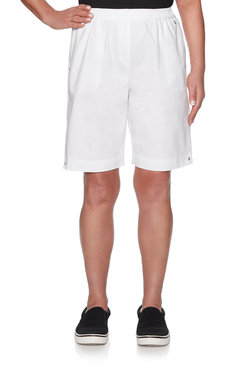 Image: Petite Relaxed Fit Canvas Short