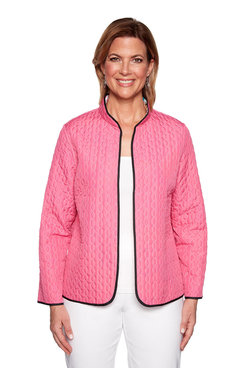 Image: Petite Reversible Floral Quilted Jacket