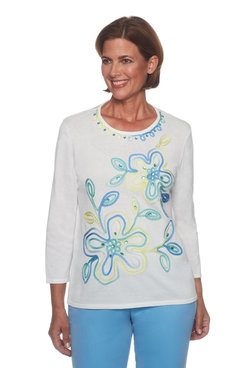 Image: Petite Ribbon Flower Sweater