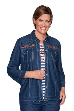Image: Petite Road Trip Embroidered Jacket