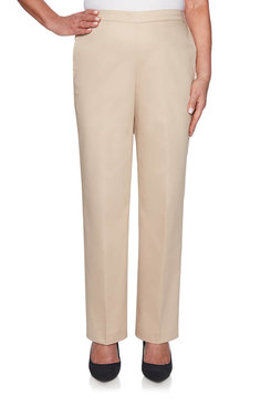 Image: Petite Sateen Proportioned Medium Pants