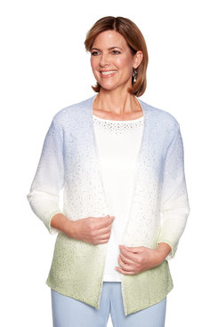 Image: Petite Sequin Ombre Two for One Sweater