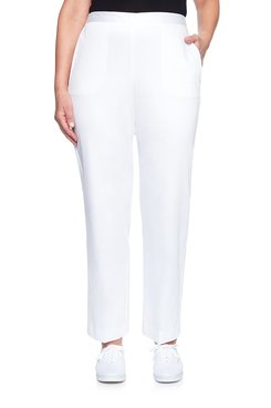 Image: Petite Solid Sateen Proportioned Medium Pant