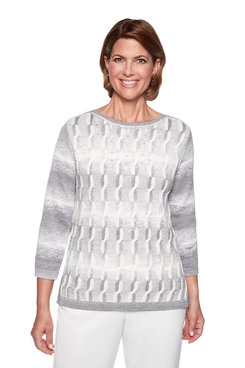 Image: Petite Space Dye Cable Sweater
