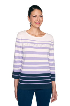 Image: Petite Striped Sweater