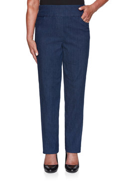 Image: Petite Superstretch Denim Proportioned Medium Jean