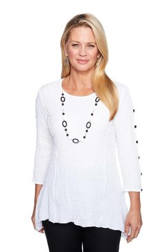 Image: Petite Textured Bubble Gauze Tunic