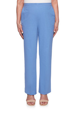 Image: Petite Textured Classic Fit Proportioned Medium Pant