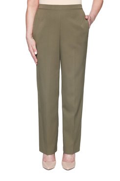 Image: Petite Twill Proportioned Medium Pant