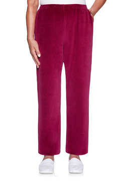 Image: Petite Velour Proportioned Medium Pant