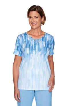 Image: Petite Watercolor Ombre Top