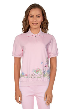 Image: Petite Women's Garden Scenic Short Sleeve Top