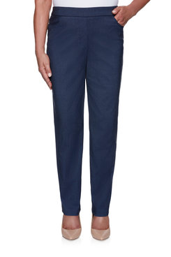 Image: Petite Women's Slim-Fit  Stretch Denim Pull-On Average Length Pant