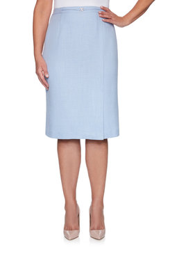 Image: Petite Women's Textured Embellished Skirt