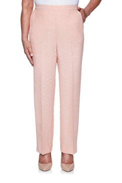 Image: Petite Women's Textured Straight-Leg Short Length Pant