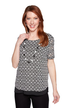 Image: Petite Zig Zag with Trim Top