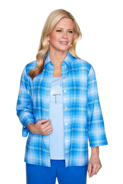Image: Plaid Two-For-One Shirt