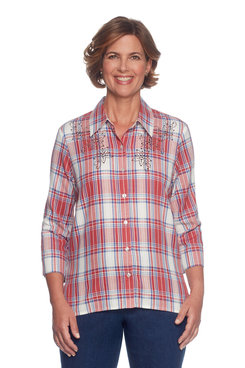 Image: Plaid With Heat Set Top