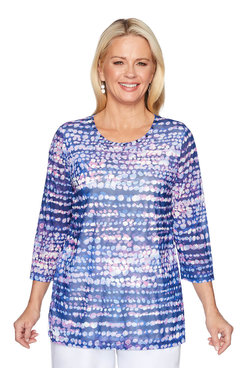 Image: Plus Amethyst Dot Print Tunic