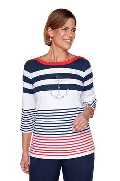 Image: Plus Anchor Striped Top