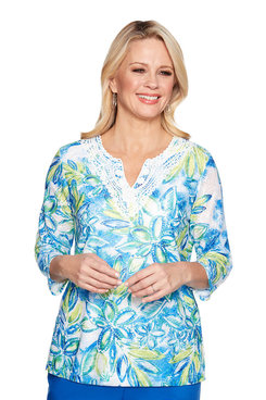 Image: Plus Batik Tropical Tunic