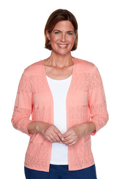 Image: Plus Biadere Pointelle Cardigan