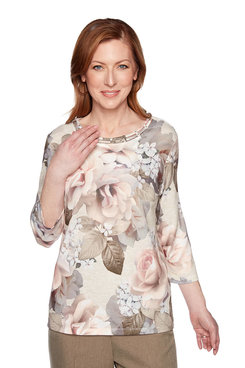 Image: Plus Bold Roses Top