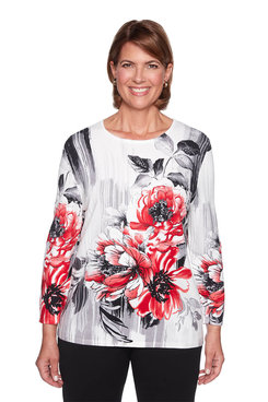 Image: Plus Brushstroke Floral Sweater