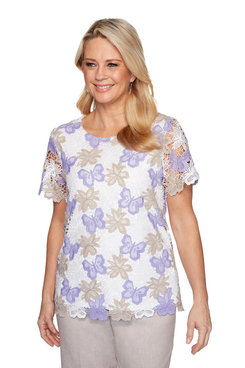Image: Plus Butterfly Lace Shirt
