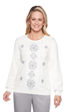 Image: Plus Center Embroidery Sweater