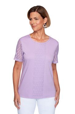 Image: Plus Center Lace Top