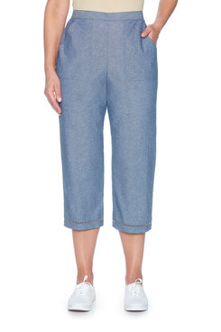 Image: Plus Chambray Capri