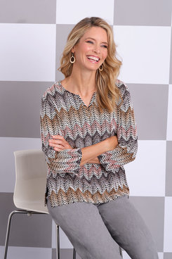 Image: Plus Chenille Zigzag Top