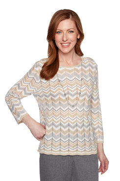 Image: Plus Chevron Knit Sweater